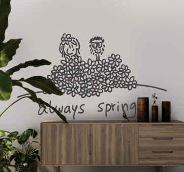 Always spring wallsticker