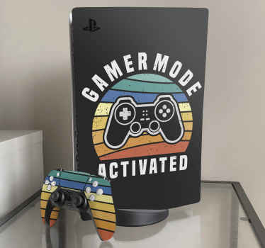 Represent your gaming device with your love for gaming in this self adhesive gamer mode activated PS5 sticker. This is really easy to apply.