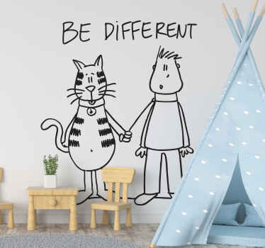 Be Different DEIA Wall Sticker