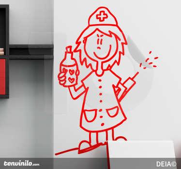 Evil Nurse Monochrome Sticker