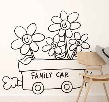 Vinilo decorativo family car