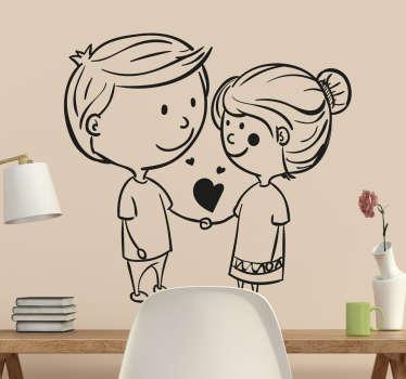 Sticker couple amoureux