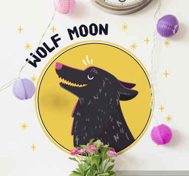 Wolf shape with text wild animal decal - Fun and interesting design to decorate any space of your choice, it can be applied on wall, furniture, etc.