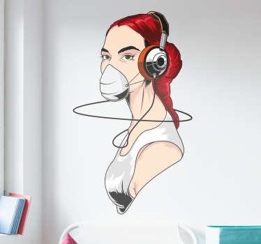 Naklejka love music 2
