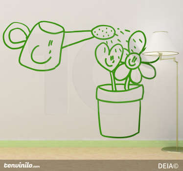 Watering Love Decal