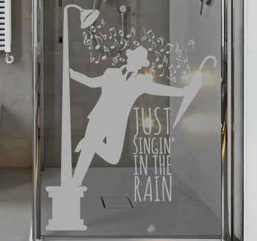 Sjunger i duschen klistermärke
