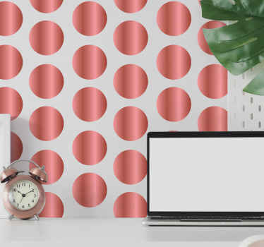 Rose gold polka dot wall sticker for your wall space decoration. The application is easy, it does not crease and it can be taken off anytime.