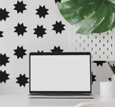 Stars pattern wall sticker for your home and other spaces decoration. This design would make your space turn out so lovely in a simple way.