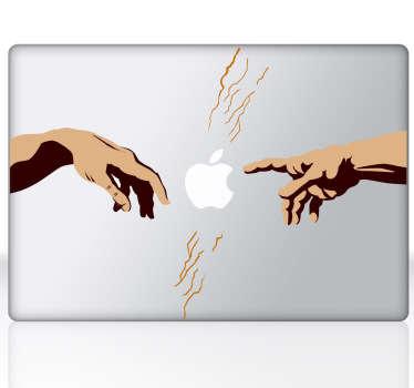 Naklejka na laptop boskie ręce