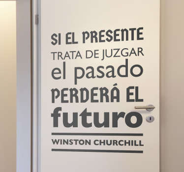 Vinilo decorativo frase Churchill