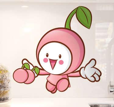 작은 벚꽃 벽 스티커