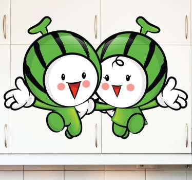 Vinilo decorativo melones amigos
