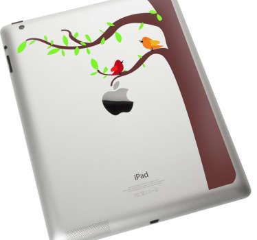 Sticker Apple oiseaux sur arbre