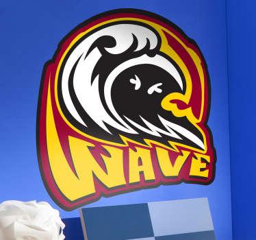 Naklejka dekoracyjna WAVE