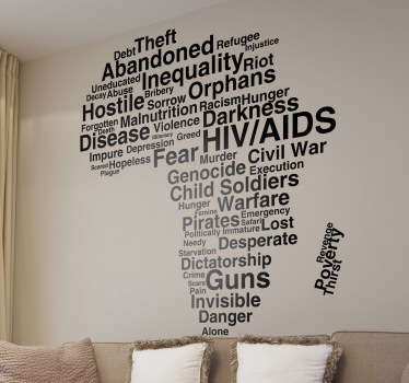 Problems in Africa Wall Sticker