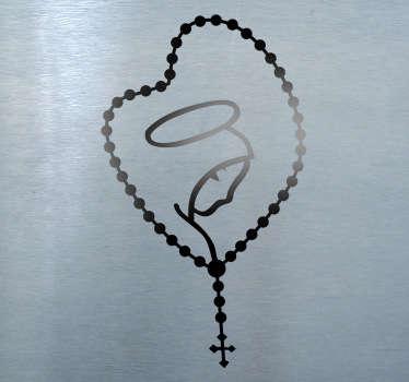 Vinilo decorativo rosario