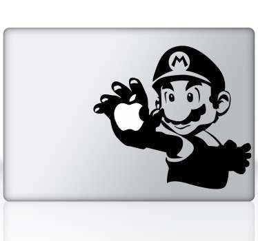 Torna o teu macbook num dispositivo único e personalizado com este espetacular autocolante decorativo para macbook do Super Mario!