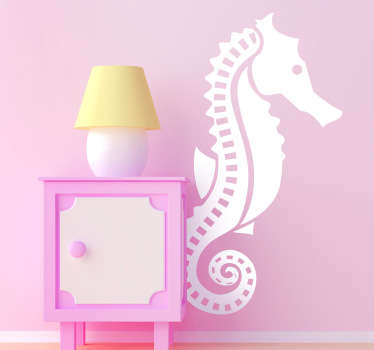 Wall Stickers - Illustration of a seahorse. Ideal for decorating any room in your home. It is very easy to apply and remove.