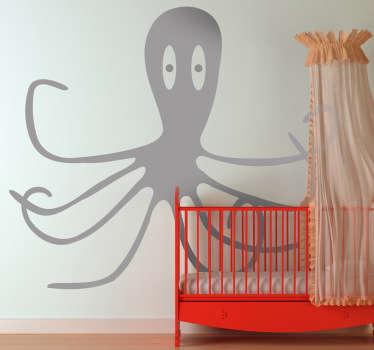 Barn blekksprut vegg klistremerke