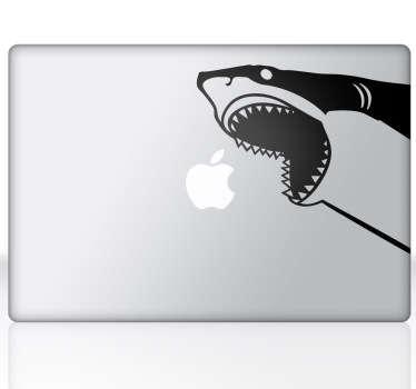 Naklejka dekoracyjna na laptop rekin