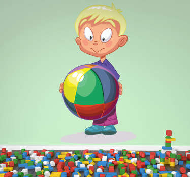 Multicoloured Ball Kids Sticker