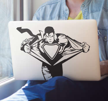 Sticker mac apple Superman