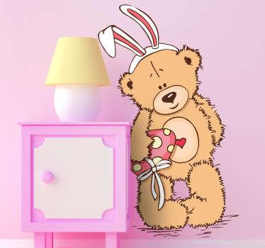 Sticker kinderen knuffelbeer