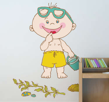 A decorative sticker for your child. Is it too cold to go to the beach? Make your child happy with this fantastic decal design.