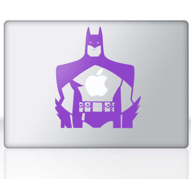 Sticker mac apple Batman
