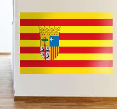 Dekorieren Sie Ihr Zuhause mit dieser tollen Flagge von Aragon als Wandtattoo! Damit zeigen Sie Ihre Leidenschaft