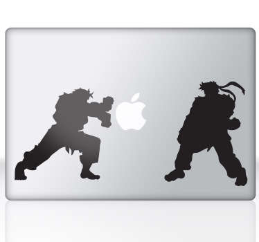 Laptop stickers Street Fighters