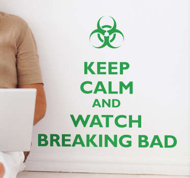 A great 'Keep Calm' sticker for those that love watching Breaking Bad! Zero residue upon removal. High quality materials.