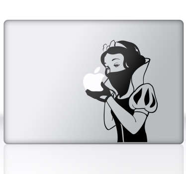Sticker mac apple Blanche-Neige