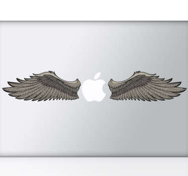 Laptop Stickers - Mac Stickers - illustration of wings. Great for customising your laptop.