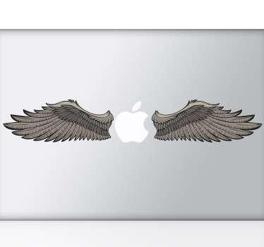 Sticker Laptop Apple Vleugels