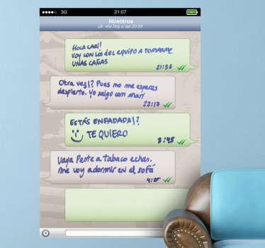 Autocolante decorativo WhatsApp quadro branco