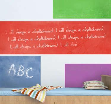 Adesivo murale lavagna vari colori