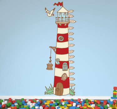 Lighthouse Height Chart Decal