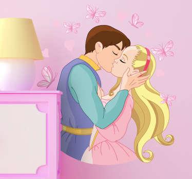 Vinilo infantil beso principesco