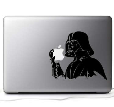 "Customize your MacBook with a decorative design from our collection of MacBook stickers. ""I am your father..."" Original design of Darth Vader."