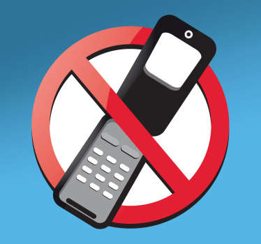 Adhesivo prohibido teléfono