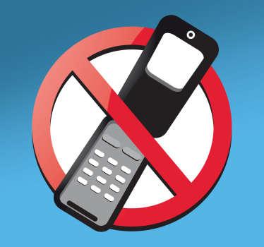 No Mobile Phone Sign Sticker