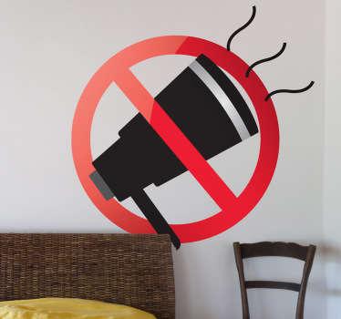Verboden schreeuwen sticker