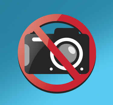 Adhesivo prohibido tomar fotos