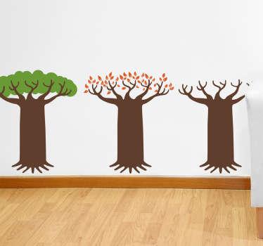 Vinilo decorativo árbol caducifolio