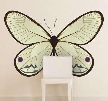 Wandtattoo Schmetterling weiß