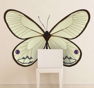 Adesivo murale farfalla elegante