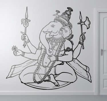 Vinilo decorativo dios hindú elefante