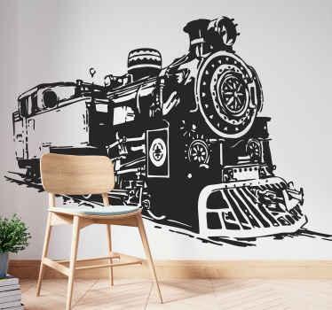 Sticker décoratif train à vapeur
