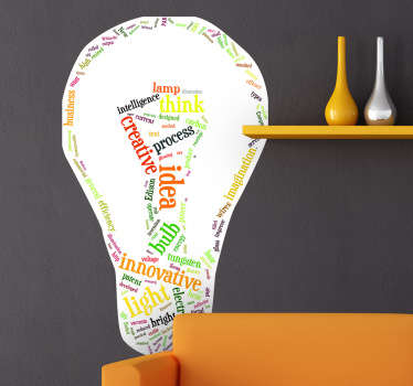 Adesivo murale lampadina idea